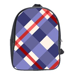 Red And Purple Plaid School Bags(large)