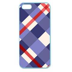 Red And Purple Plaid Apple Seamless Iphone 5 Case (color)