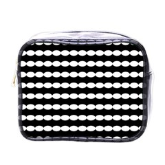 Silhouette Overlay Oval Mini Toiletries Bags