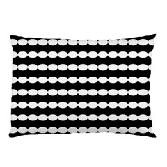 Silhouette Overlay Oval Pillow Case (two Sides)