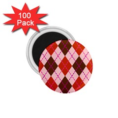 Texture Background Argyle Brown 1 75  Magnets (100 Pack)  by Jojostore
