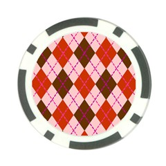 Texture Background Argyle Brown Poker Chip Card Guards by Jojostore