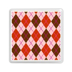 Texture Background Argyle Brown Memory Card Reader (square)