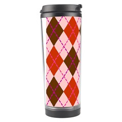 Texture Background Argyle Brown Travel Tumbler