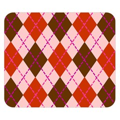 Texture Background Argyle Brown Double Sided Flano Blanket (small)