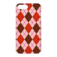 Texture Background Argyle Brown Apple Iphone 7 Plus Hardshell Case