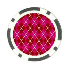 Texture Background Argyle Pink Red Poker Chip Card Guards by Jojostore
