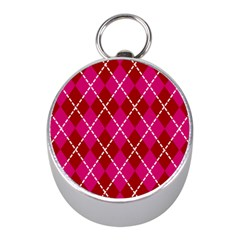 Texture Background Argyle Pink Red Mini Silver Compasses