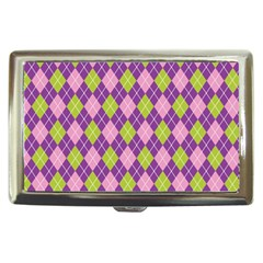Purple Green Argyle Background Cigarette Money Cases by Jojostore