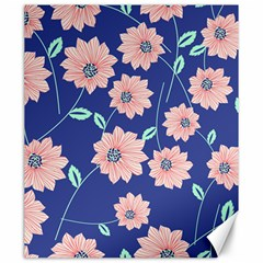 Seamless Blue Floral Canvas 20  X 24   by Jojostore