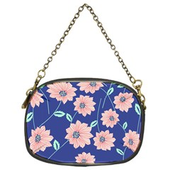 Seamless Blue Floral Chain Purses (two Sides)  by Jojostore