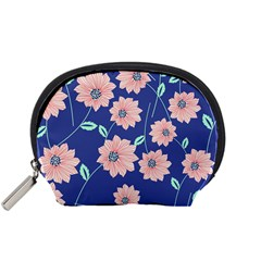 Seamless Blue Floral Accessory Pouches (small)