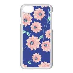 Seamless Blue Floral Apple Iphone 7 Seamless Case (white)