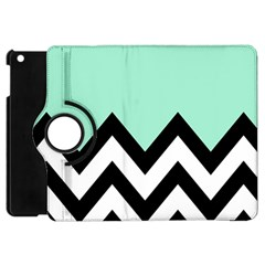 Mint Green Chevron Apple Ipad Mini Flip 360 Case by Jojostore