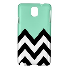Mint Green Chevron Samsung Galaxy Note 3 N9005 Hardshell Case by Jojostore