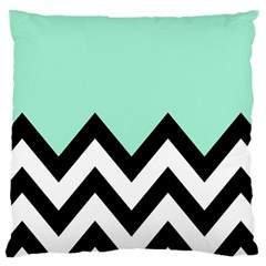 Mint Green Chevron Large Flano Cushion Case (two Sides) by Jojostore