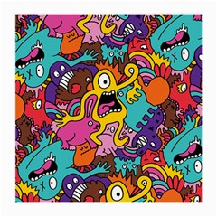 Monsters Pattern Medium Glasses Cloth