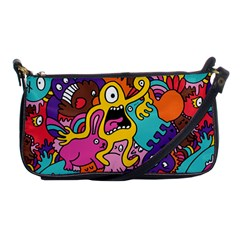 Monsters Pattern Shoulder Clutch Bags