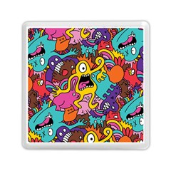 Monsters Pattern Memory Card Reader (square)