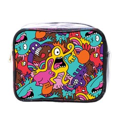 Monsters Pattern Mini Toiletries Bags