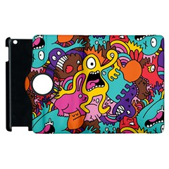 Monsters Pattern Apple Ipad 3/4 Flip 360 Case