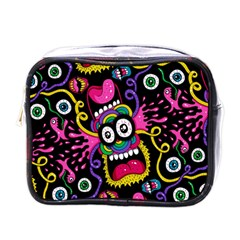 Monster Face Mask Patten Cartoons Mini Toiletries Bags