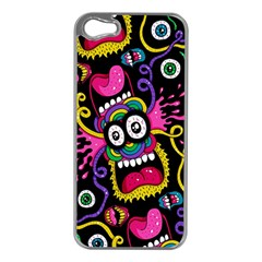 Monster Face Mask Patten Cartoons Apple Iphone 5 Case (silver)