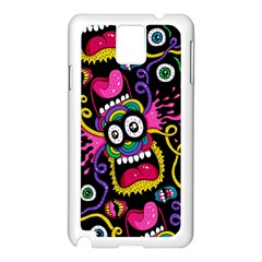 Monster Face Mask Patten Cartoons Samsung Galaxy Note 3 N9005 Case (white) by Jojostore