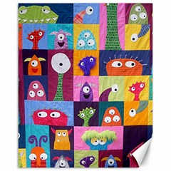 Monster Quilt Canvas 16  X 20