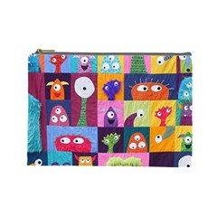 Monster Quilt Cosmetic Bag (large)  by Jojostore