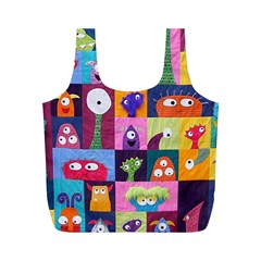 Monster Quilt Full Print Recycle Bags (m)
