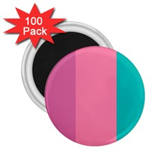 Pink Blue Three Color 2 25  Magnets (100 Pack)