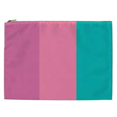 Pink Blue Three Color Cosmetic Bag (xxl)