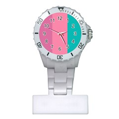 Pink Blue Three Color Plastic Nurses Watch by Jojostore