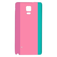 Pink Blue Three Color Galaxy Note 4 Back Case