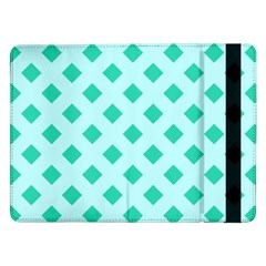 Plaid Blue Box Samsung Galaxy Tab Pro 12 2  Flip Case by Jojostore