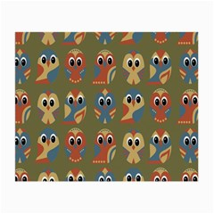 Owl Pattern Illustrator Small Glasses Cloth (2 Side) by Jojostore