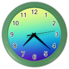 Purple Blue Green Color Wall Clocks by Jojostore