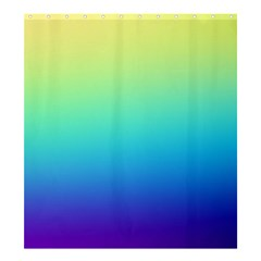 Purple Blue Green Shower Curtain 66  X 72  (large)