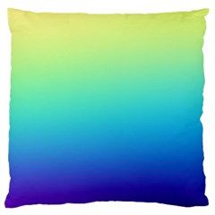 Purple Blue Green Large Cushion Case (two Sides)