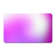Purple White Background Bright Spots Magnet (rectangular)