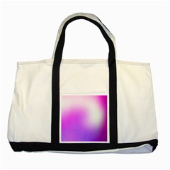 Purple White Background Bright Spots Two Tone Tote Bag
