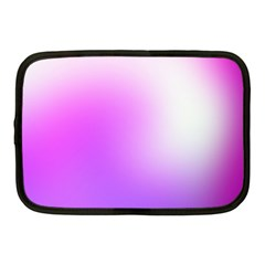 Purple White Background Bright Spots Netbook Case (medium)