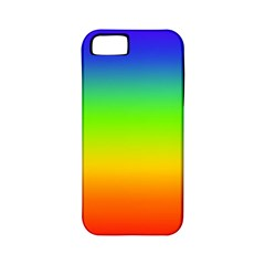 Rainbow Blue Green Pink Orange Apple Iphone 5 Classic Hardshell Case (pc+silicone) by Jojostore