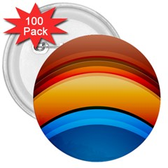 Rainbow Color 3  Buttons (100 Pack)  by Jojostore