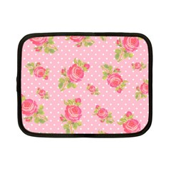 Rose Pink Netbook Case (small)  by Jojostore