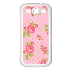 Rose Pink Samsung Galaxy S3 Back Case (white)