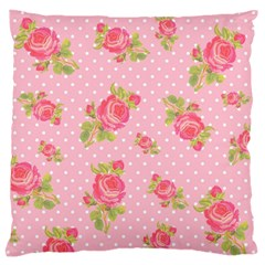 Rose Pink Standard Flano Cushion Case (two Sides)