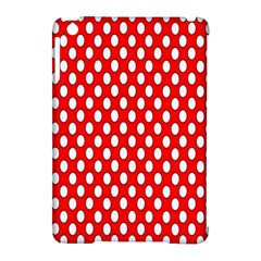 Red Circular Pattern Apple Ipad Mini Hardshell Case (compatible With Smart Cover)