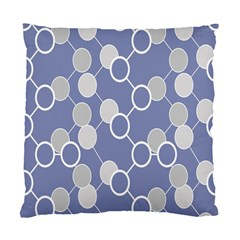 Round Blue Standard Cushion Case (two Sides) by Jojostore
